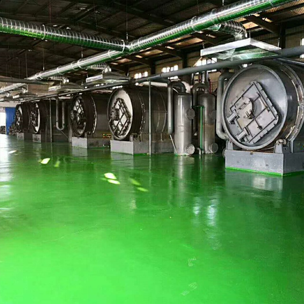Semi-continuous type tire pyrolysis equipment with 50 tons