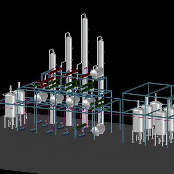 crude oil distillation plant
